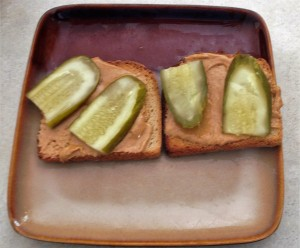 Open-faced sandwich