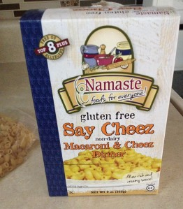 Namaste mac n cheese box