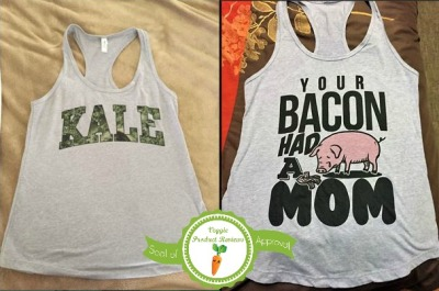 Racerback Tank Tops, side by side