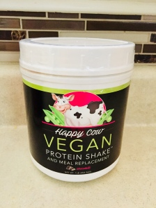 Happy Cow Vegan Protein Shake container